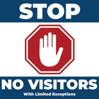 No visitors!